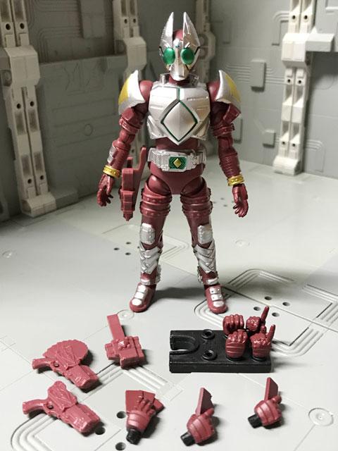 SHODO-O 仮面ライダーギャレンの箱の中身の組み立て