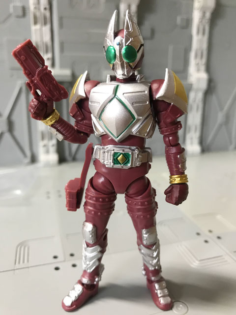 SHODO-O 仮面ライダーギャレン 右手に銃を持つポーズ