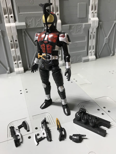 SHODO-O 仮面ライダーダークカブトの箱の中身の組み立て