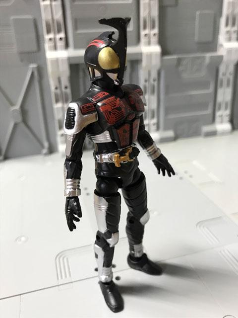 SHODO-O 仮面ライダーダークカブトの正面(少し斜め向き)