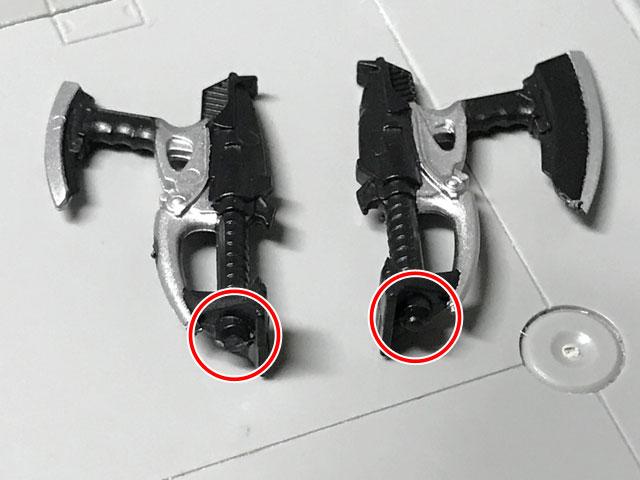 SHODO-O 仮面ライダーダークカブト 武器の先っぽを切ってしまった画像(左側)