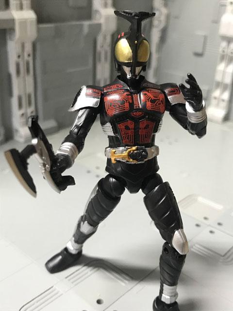 SHODO-O 仮面ライダーダークカブト 斧を振り下ろすポーズ