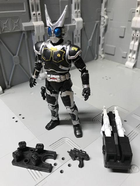 SHODO-O 仮面ライダーG4の箱の中身の組み立て
