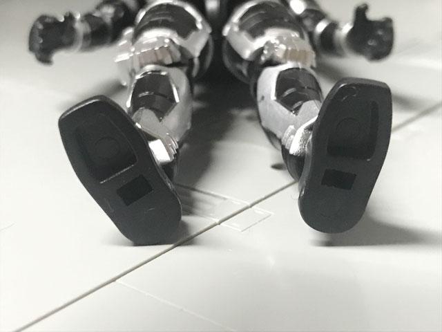 SHODO-O 仮面ライダーG4 足の裏のアップ