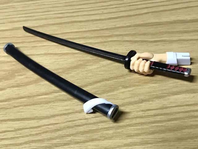 鬼滅模型 竈門炭治郎の日輪刀と右手のパーツと鞘